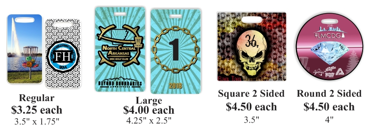 disc golf bag tags