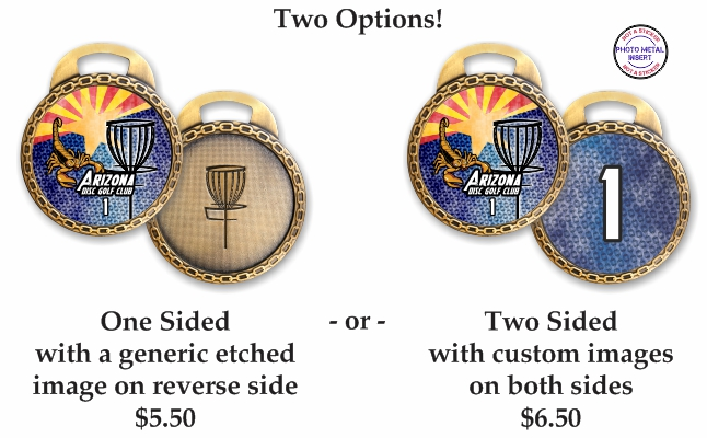 Disc Golf Metal Bag Tags