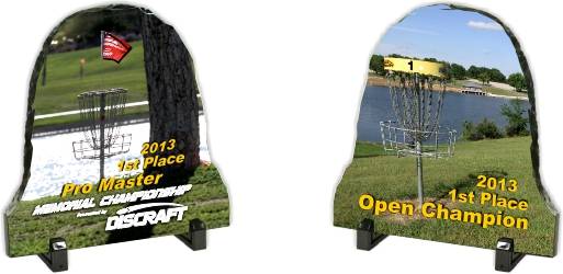slate disc golf trophies